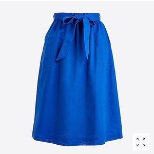 J. Crew royal blue midi skirt